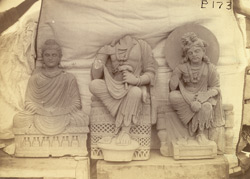 Group of statues of Buddhas and Bodhisattvas excavated at Lorian Tangai, Peshawar District 10031045